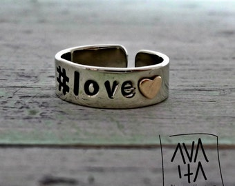 Ring (#love) hashtag line