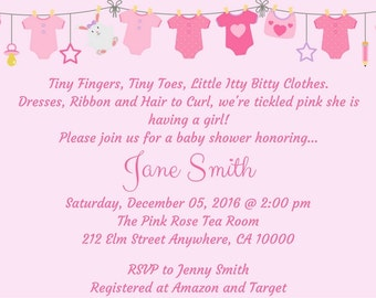 Baby Shower Invitation-Its A Girl Baby Shower Invitation-Baby Shower Invite-Pink Shower Invite-Girl Shower Invite-Printable Shower Invite