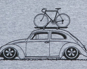 Bicycle T Shirt Bike with VW Beetle