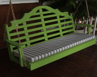 Porch Swing Marlboro Style - Options 4', 5' or 6' - Free Shipping