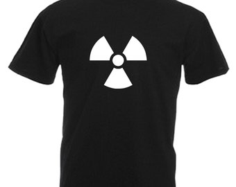 Radioactive Adults Black T Shirt Sizes From Small - 3XL