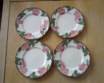 Set of Four Franciscan Ware Luncheon Plates