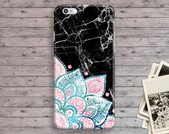 Mandala iPhone 6 Case, Marble Mandala iPhone 7 Case, Watercolor iPhone 6S Case, iPhone 7 Plus, Floral iPhone 6S Case, iPhone SE 4S 5 5S 5C