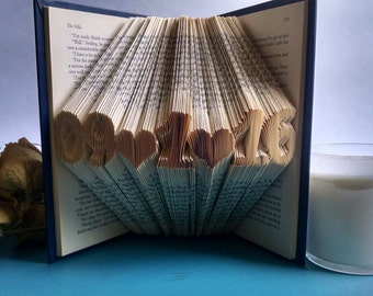 Best Selling Wedding Anniversary Gifts - Anniversary Gift - Book Art Wedding Anniversary - Book Sculpture Wedding Date For Her