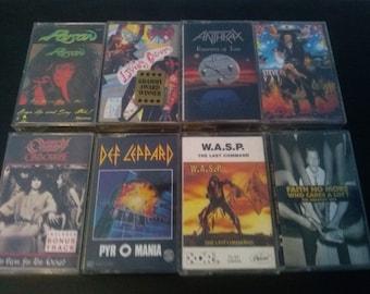 Hard Rock/ Heavy Metal Cassette Tapes