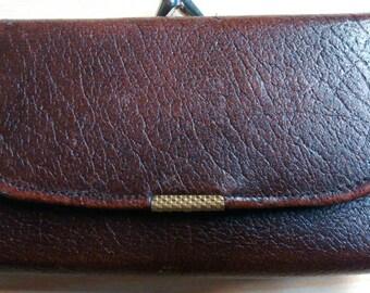 Vintage English leather ladies purse