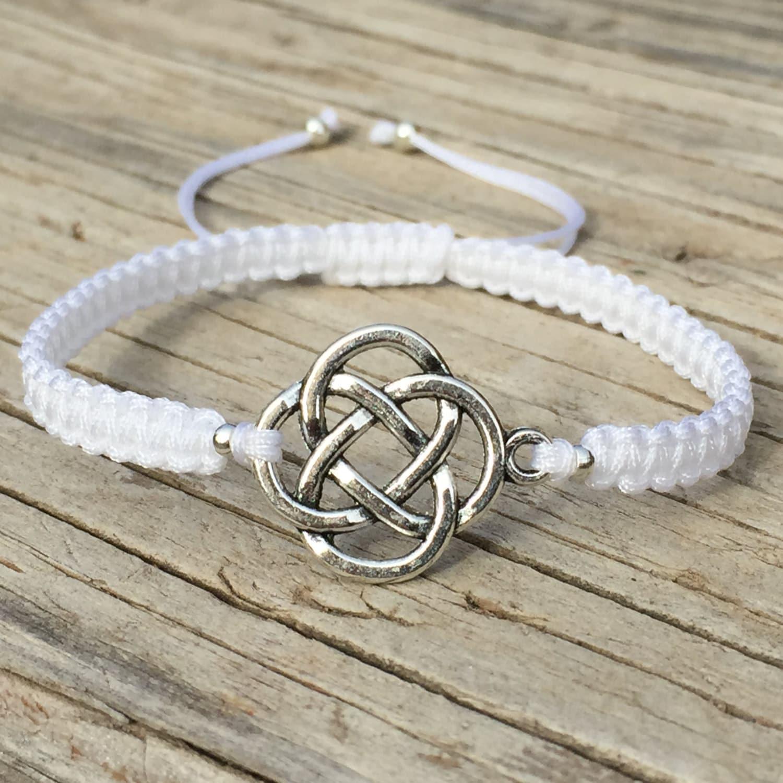 celtic knot bracelet celtic knot anklet adjustable macrame. Black Bedroom Furniture Sets. Home Design Ideas