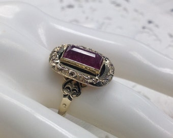 10k Georgian Victorian Ruby Ring