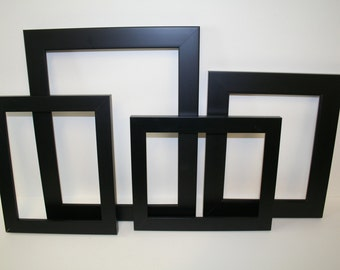 set of 4 black picture frames 114