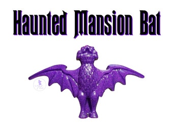Purple Haunted Mansion Bat Brooch