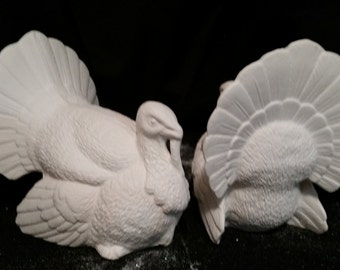 Big Tom Turkey - Unpainted Ceramic Bisque