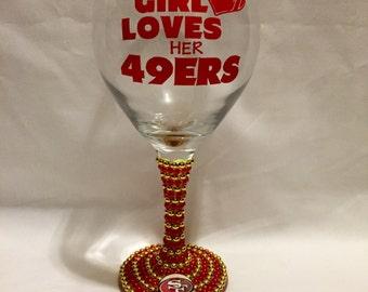 San Francisco 49ers Wine Glass