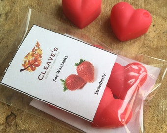 Strawberry Scented Soy Wax Melts