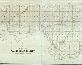 1898 Map of Wahkiakum County Washington
