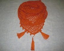 Ready to Ship!/ spring Scarf, Triangle Scarf,Baktus, Shawl,crochet shawl Crochet Scarf, Handmade Scarf