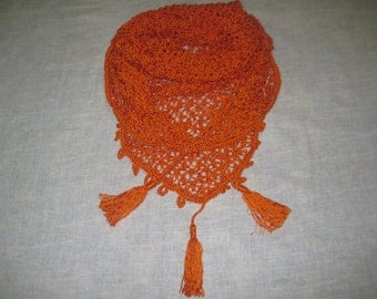 Free shipping! Ready to Ship!/ spring Scarf, Triangle Scarf,Baktus, Shawl,crochet shawl Crochet Scarf, Handmade Scarf
