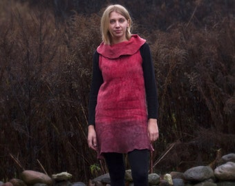 OOAK nuno felt dress | Hand made dress | Woolen dress