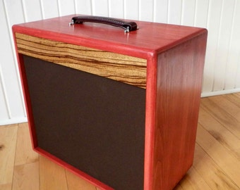 Guitar Speaker Cabinet 1x12 - Pine & Zebrawood