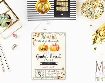 Fall gender reveal card,Gender Reveal or Baby Shower,Sweet Little  Boy or Girl Invite,Gender Reveal Party,Baby Reveal Invites,gender reveal