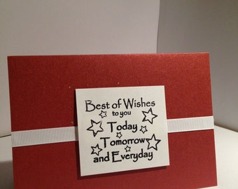 Best of Wishes Greeting Card