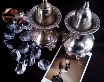 Salt shaker silver plated