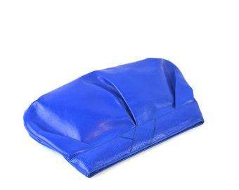 Cobalt Blue Leather Clutch by Liz Claiborne