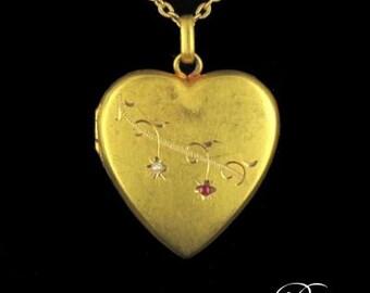 Former former heart in gold 18 K pendant opening Medallion