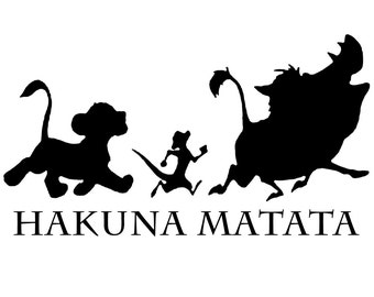 The Lion King Quote - Vinyl Decal Wall Art - It Means No Worries