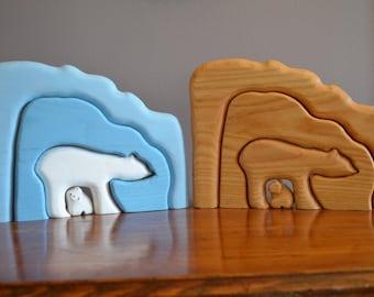 Polar Bear Wooden Stackers