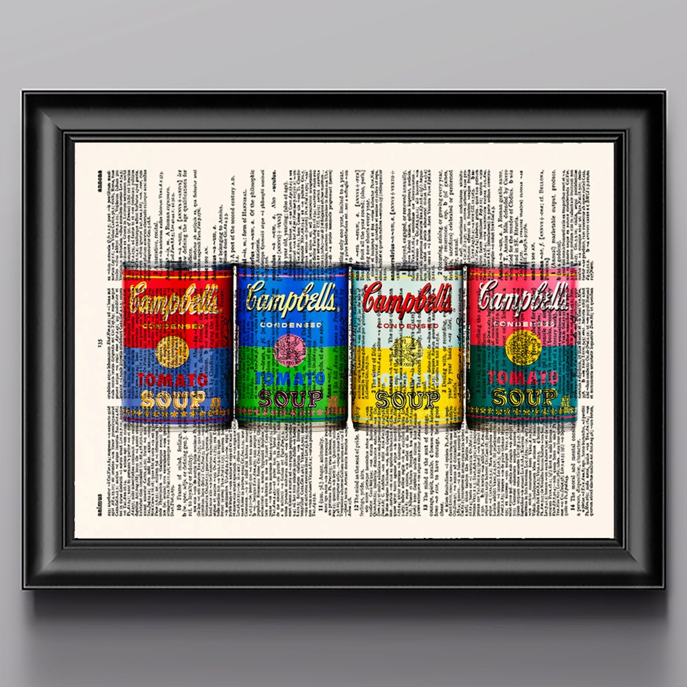Campbell Kitchen: Campbell Soup Kitchen Decor Kitchen Wall Art Retro By