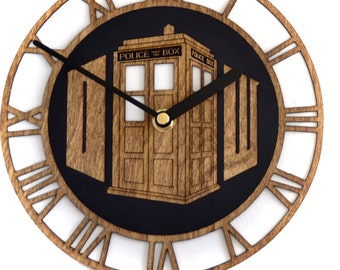 Doctor Who inspired wall clock