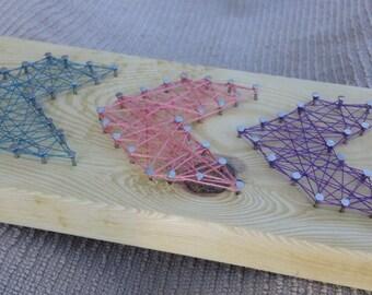 Chevron nail string art