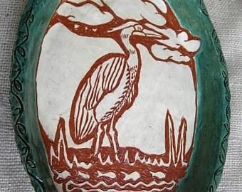 Blue Heron Plate