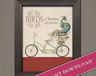 Birds of a Feather (printable download) by Inklings of an Artist