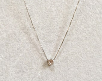 Tiny Heart Circle Necklace ~ Silver/Gold