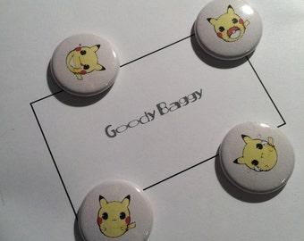 "Kawaii Pikachu Pins 1"" Pinback Buttons Badges"
