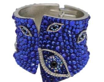 Multi Evil Eye Cuff Bracelet