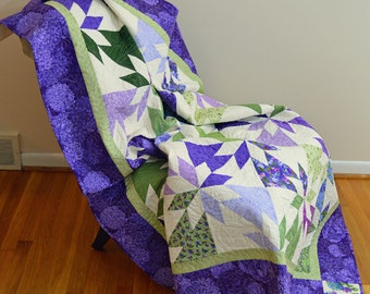Purple and Green Hunter Star Quilt