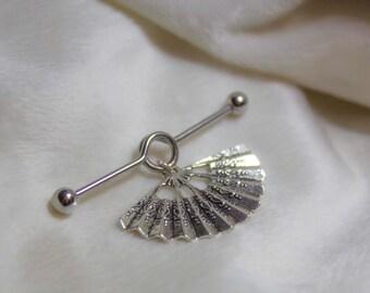 Oriental Fan - Bar Earring