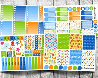 Under the Sea Weekly Kit Planner Stickers