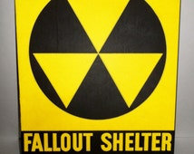 Vintage Fallout Shelter Sign