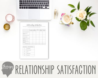 Relationship Satisfaction: Printable Therapy Journal