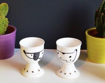Egg Cups Dachshund