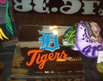 Detroit Tigers Mirror, Hand Painted 12x12, Baseball