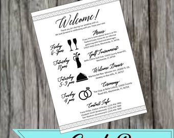 Wedding Event Cards