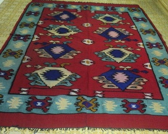 Antique Hand Woven Area Rug (100% wool)