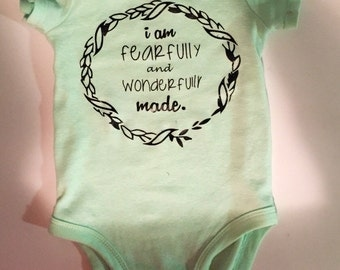 I am Fearfully and Wonderfully Made' onesie