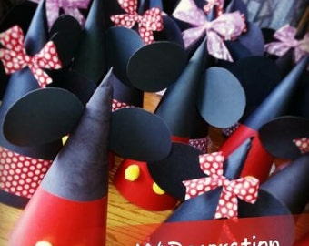 Minnie & Mickey Mouse party hats