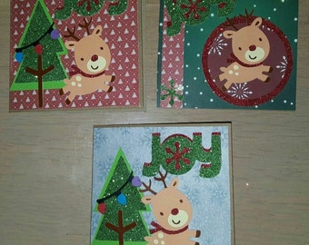 Cute Rudolf Reindeer Christmas Cards