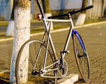 Handmade fixed gear bicycle frame